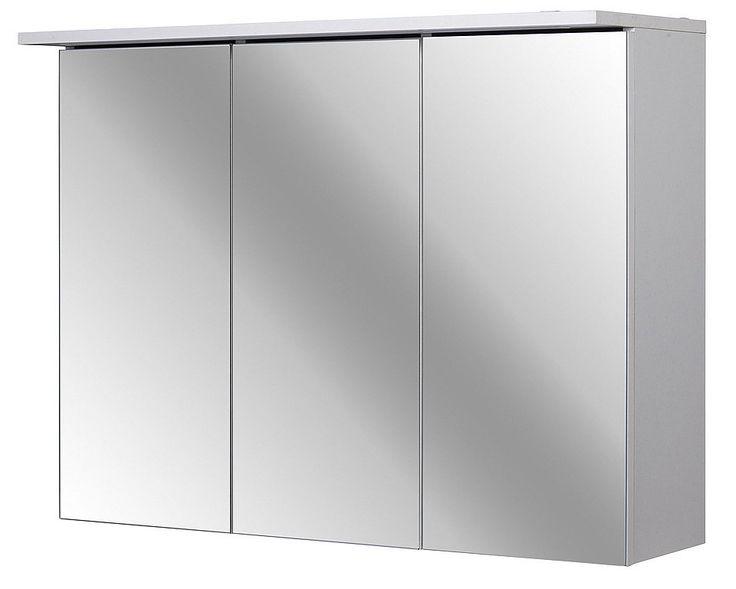 Spiegelschrank »Flex 80 cm« für 129,99€. 3 Spiegeltüren, Mit Soft-Close, Mit LED-Beleuchtung, Inkl. Schalter und Steckdose, Made in Germany! bei OTTO
