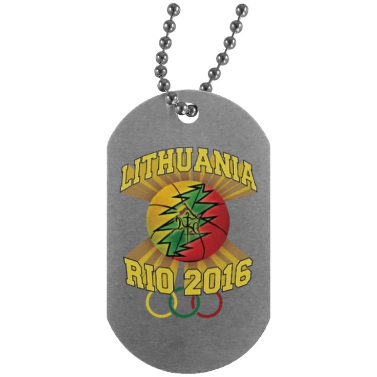 Rio Olympic Basketball -- Silver Dog Tag