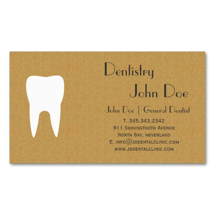 2017 best dental dentist business cards images on pinterest cool cardboard dental logo business card reheart Image collections
