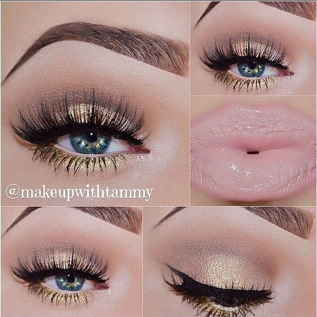 Gold & Nude Makeup by @makeupwithtammy done with the Naked palette ✨ TAG YOUR MAKEUP VIDEOS & PICS TO #FCmakeup - @fashionclimaxx2- #webstagram
