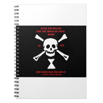 #Ancient Viking Prayer...Fear Not Death Notebook - #office #gifts #giftideas #business