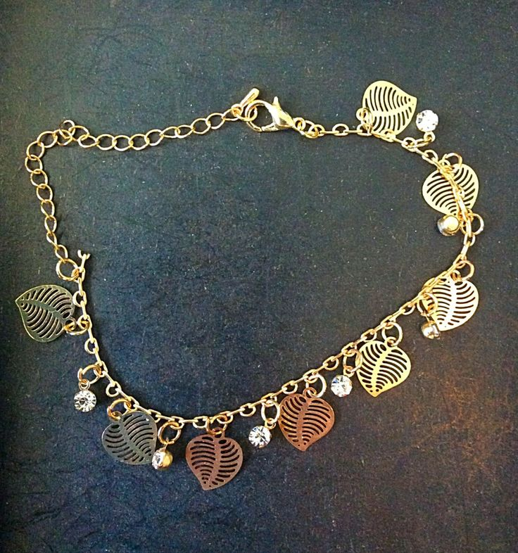 A personal favorite from my Etsy shop https://www.etsy.com/listing/239191690/24k-gold-plated-leaf-and-charm-anklet