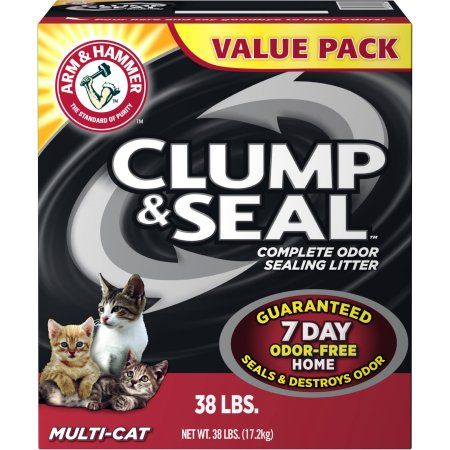 Arm and Hammer Clump and Seal Multi-Cat Litter, 38 lbs