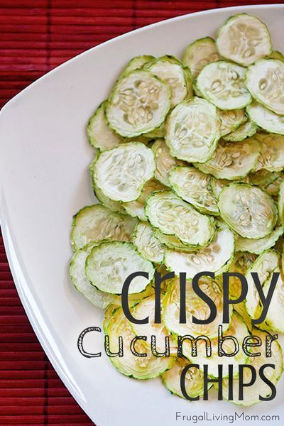 Looking for a light and healthy snack?  How about these crispy cucumber chips.  Great for kids and adults!