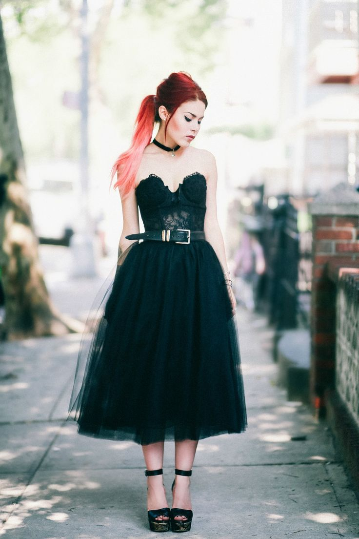 I absolutely love the black tulle with the bustier top, so perfect