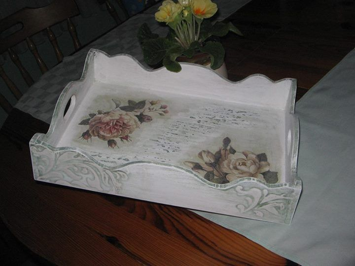Unfinished Wooden Trays For Decoupage Decoration Endearing 28 Best Bandejas Images On Pinterest  Trays Decorated Boxes And Design Ideas