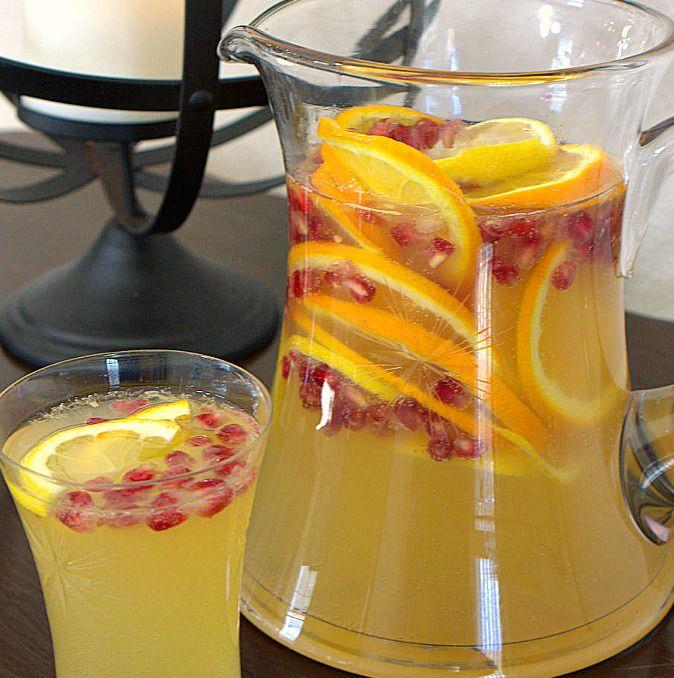 Sparkling citrus pomegranate punch 'Sparkling Citrus Pomegranate Punch, a…
