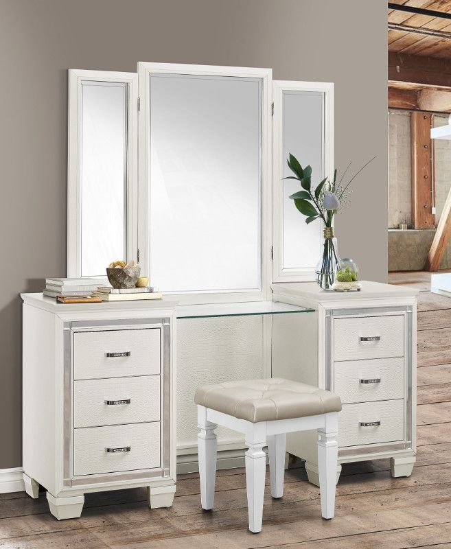 Homelegance 1916w 14 15 3 Pc Allura White Finish Wood Bedroom Make