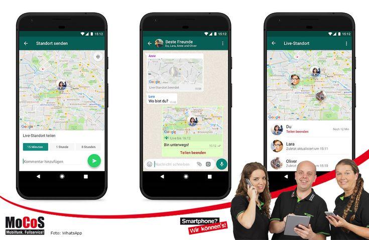 Auch mit WhatsApp kann man seit dem Update Ende 2017 den eigenen Standort live für eine begrenzte Dauer mit bekannten Kontakten teilen.  Um diese tolle Funktion zu nutzen, tippt man in einer Unterhaltung einfach auf das Symbol für Anhänge (Die Büroklammer oder das Plus-Zeichen). Anstelle einer Datei kann man nun den eigenen Standort anhängen.   #Galileo #GPS #Ortung #Standort #Treffpunkt