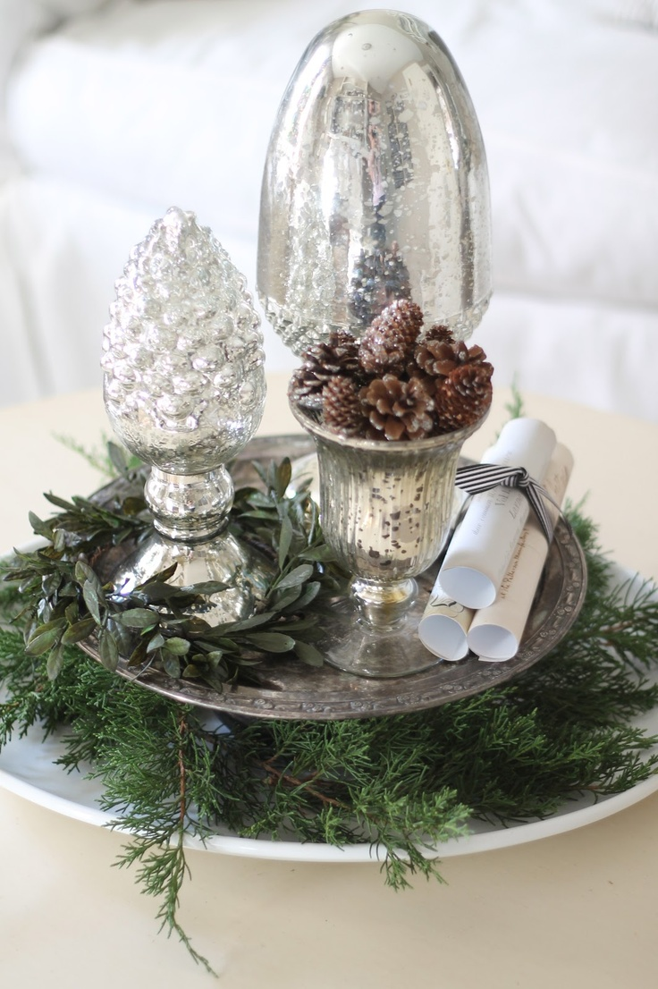 Best Mercury Glass Images On Pinterest Christmas Time