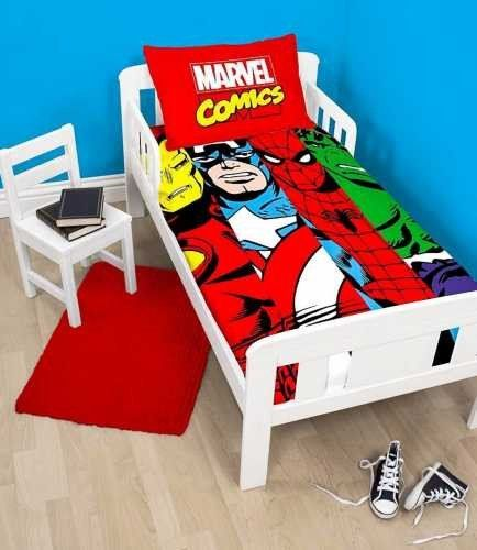 Marvel Comics Clash Toddler Cot Quilt Cover