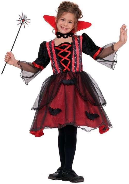 Vampiress Costume for Kids  Girls Vampire Costume