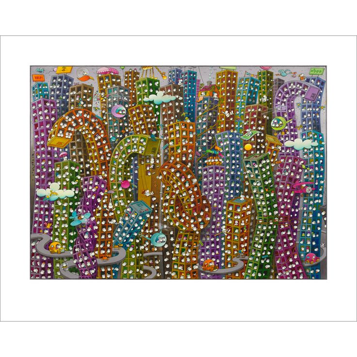 """""""City Life"""" Exclusive Original Limited Edition Fine Art Print available from www.mordilloart.com"""
