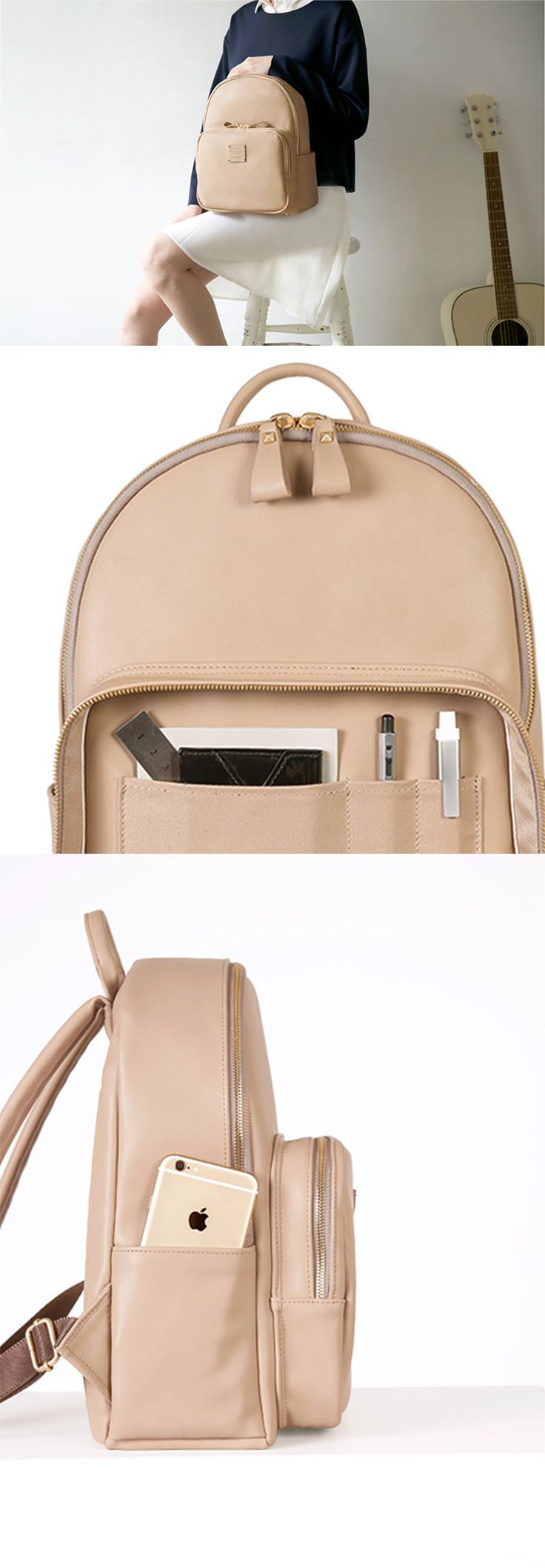 Take your style to the next level with the beautiful and timeless Square Mini Office Leather Backpack!: