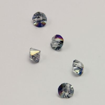 #Diamond bead, #Glass bead, #Glas perle, #Facet