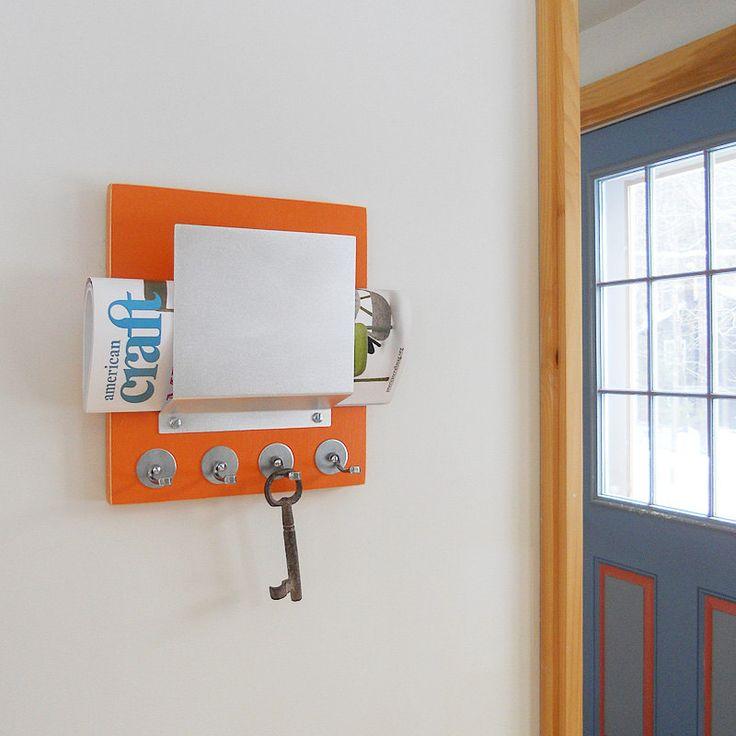 Letter key holder wall mount