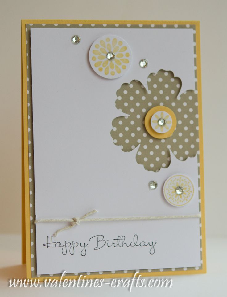 Stampin up - love this card, plus lots of other super ideas on her blog!