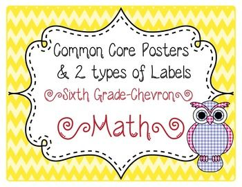 6th grade common core labels