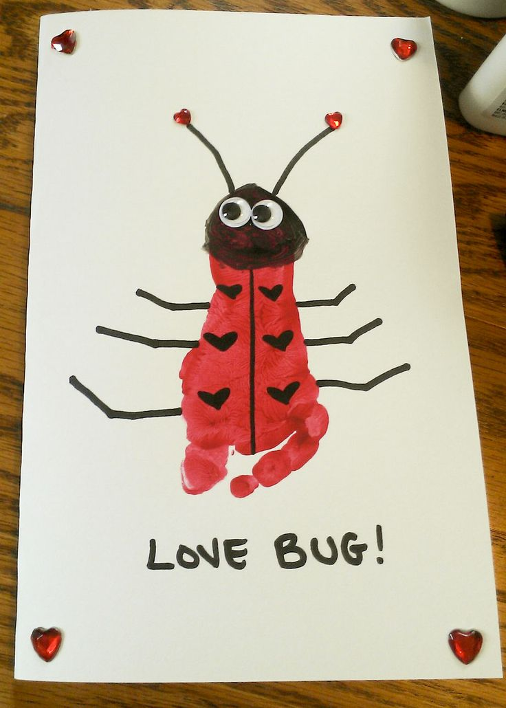 Love Bug Footprint   Valentine's Day   Pinterest   Love ...