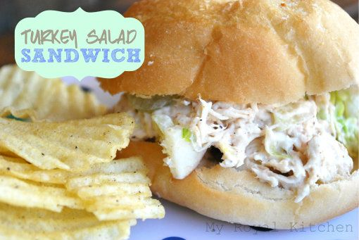 Turkey Salad Sandwich...perfect for Thanksgiving leftovers! - My Royal Kitchen