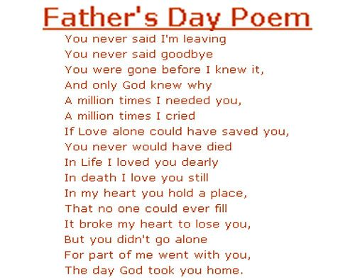 Fathers Day Poems Inspirational Quotes | Happy Fathers Day 2017 ...