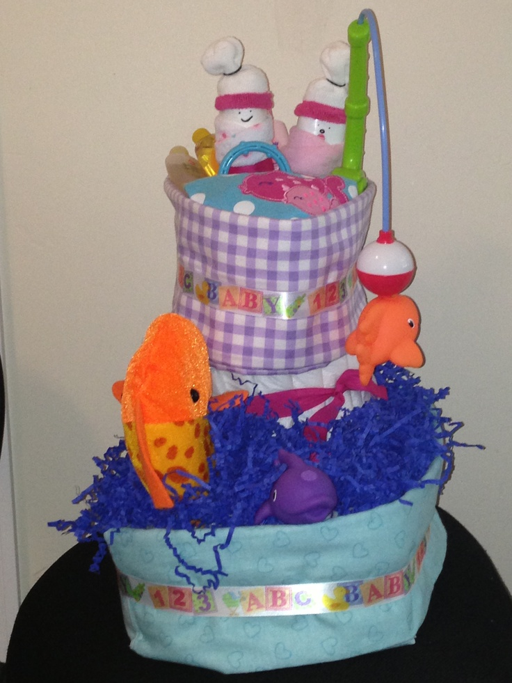 Fishing Baby Shower Cake