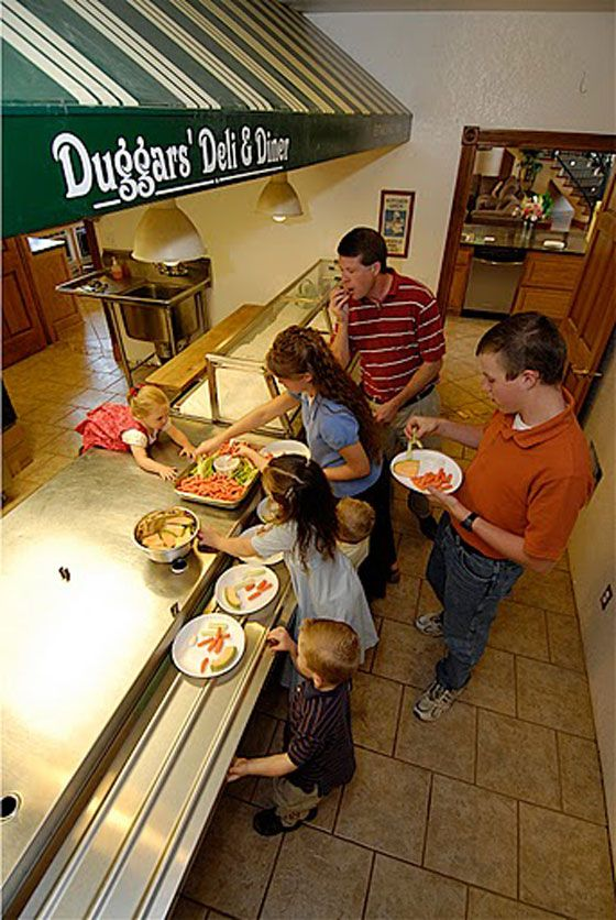 Dinner as a buffet - a counter will do providing it's reserved for this purpose