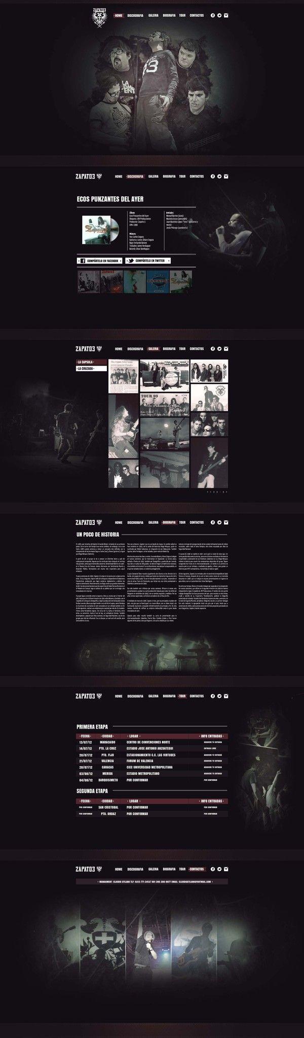 Web Design Zapato 3 by Loopstok , via Behance