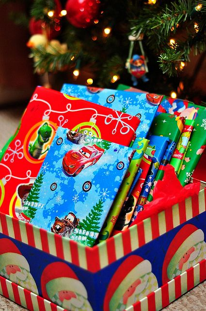 Instead of an advent calendar, wrap 25 books & open one each night. Love this!