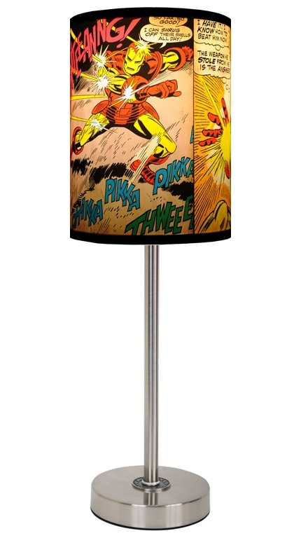 Iron Man lamp.  Lots of different shade option with a pop art aesthetic