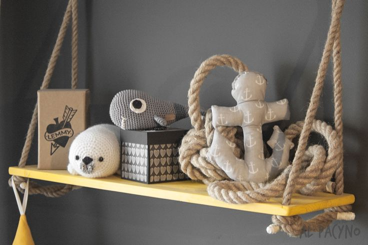 Nautical nursery, Marine themed nursery, Kids room, Children room Anchor, Ropes, Monkey Fist, Whale, Lemmy Pirates