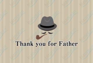 カッコイイ父の日のメッセージカード|テンプレートの無料ダウンロードは【書式の王様】