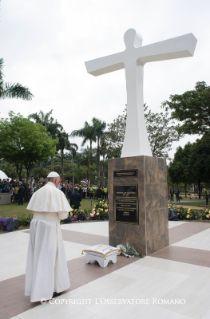 Viaje apostólico a Colombia: Parada en la Cruz de la reconciliación - Actividades del Santo Padre Francisco   Vatican.va