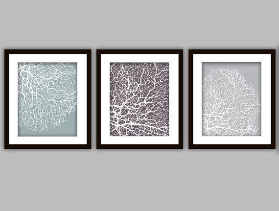 3 Fan Coral Prints. Bathroom ArtworkBathrooms ...
