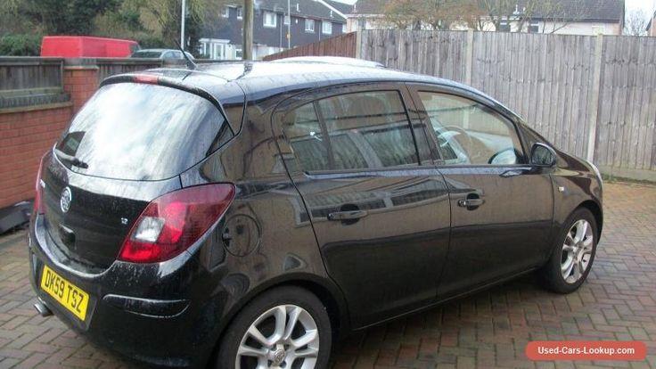 Vauxhall Corsa 1.2 SXI A/C BLACK 2009 #vauxhall