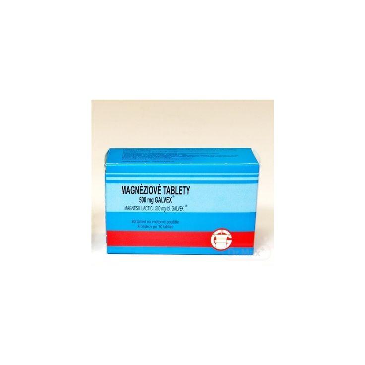 Magnéziové tablety 500 mg Galvex | Doplnky výživy