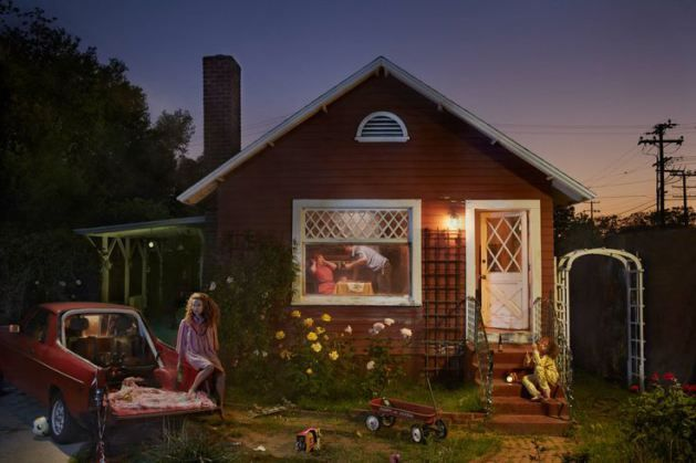 Ryan Schude, Red House, 2012. South Pasadena, California. In Collaboration with Justin Bettmman.