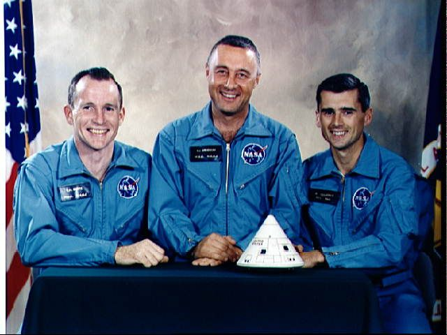 Remembering today Astronauts Gus Grissom, Edward White and Roger Chaffee who perished today 1-27 in 1967 in a fire aboard their space capsule for the Apollo 1 mission during a test flight operation.