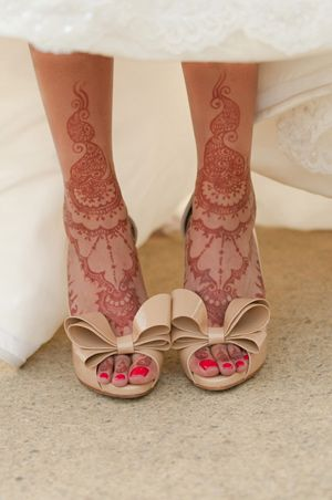Taking the lace trend to a whole other level. The shoes are Valentino, by the way.
