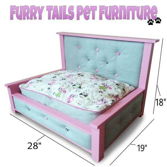SALE  Reg. 160 Pink and Owl tufted Pet Bed / Dog Bed от Built4Kids