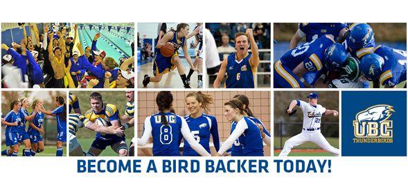 UBC Athletics 'Bird Backer - start an evolution UBC   Connect   Engage   Donate