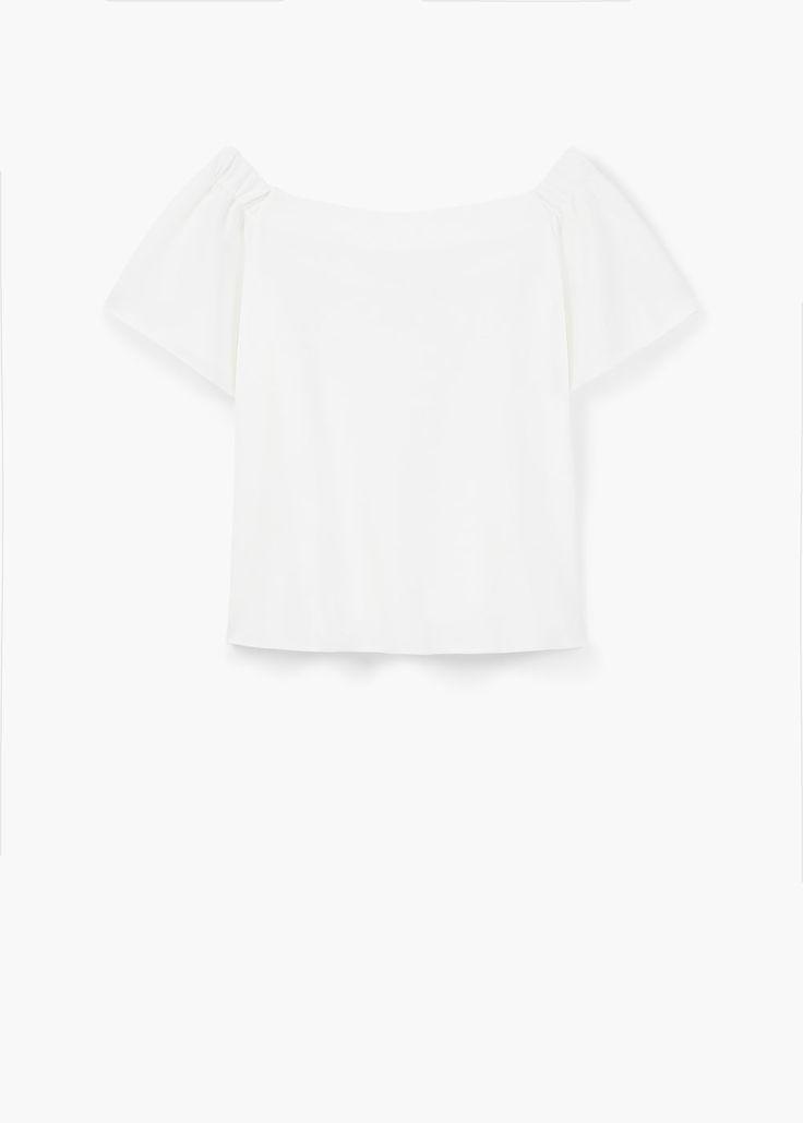 Camiseta escote bañera | MANGO