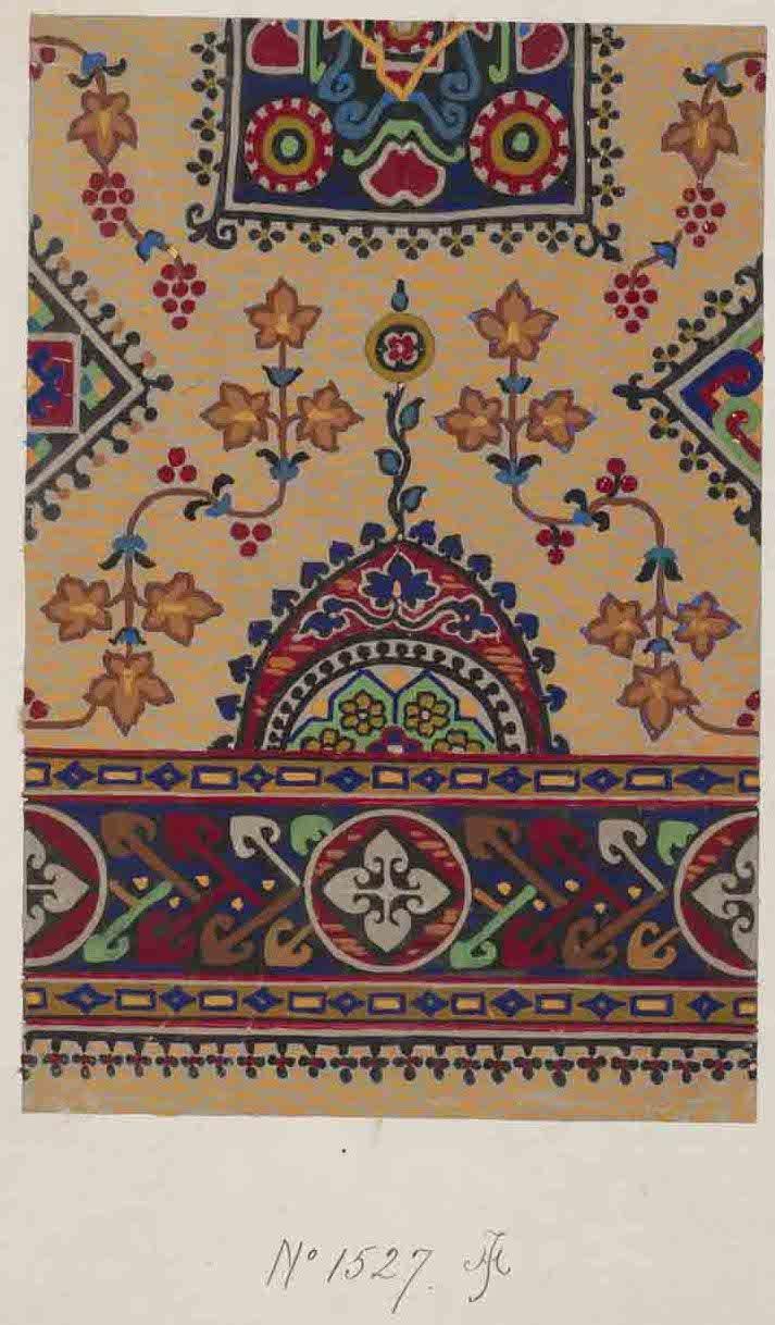 Stoddard-Templeton Design: Assorted Persian and Bordered Squares (STOD/DES/111/35)  Design sketch: Untitled design (1880-1975)_  http://www.flickr.com/photos/uofglibrary/7179651171/in/set-72157625472336767
