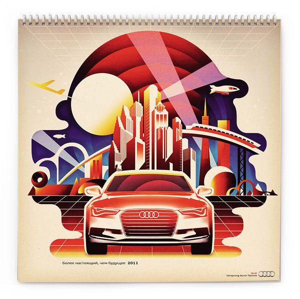Audi Russia Calendar 2011 by Roma Erohnovich, via Behance