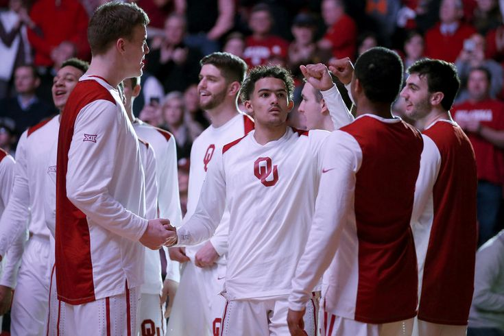 Oklahoma's Trae Young is introduced before a Bedlam basketball game between the Oklahoma Sooners (OU) and the Oklahoma State Cowboys (OSU) at Lloyd Noble Center in Norman, Okla., Wednesday, Jan. 3, 2018. Photo by Bryan Terry, The Oklahoman