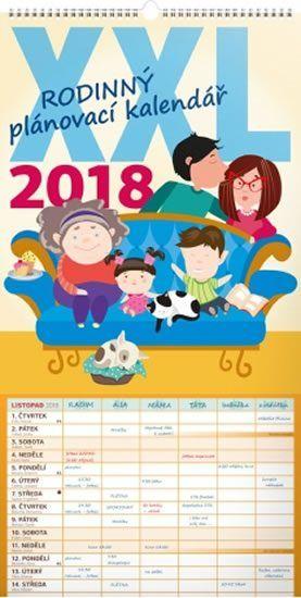 Kalendář nástěnný 2018 - Rodinný plánovací XXL | Knihy Dobrovský