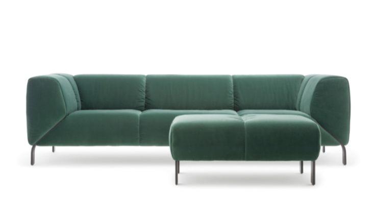 ROLF BENZ novelty 323. Stunning singular Sofa program, here featured in luxury Velvet. Featured @azuremagazine /  Canada @rolfbenz