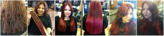 #longhairdontcare #hairextentions #readhair Joico Guide to Education (G2E) beautifully long ombre tape extensions with red sombre color by ISO  prelighten with powder lighter and 20vol  Base color ISO 7RR with 20vol Midshaft to ends ISO 7RR with 30vol results beautifully healthy shinny red hair