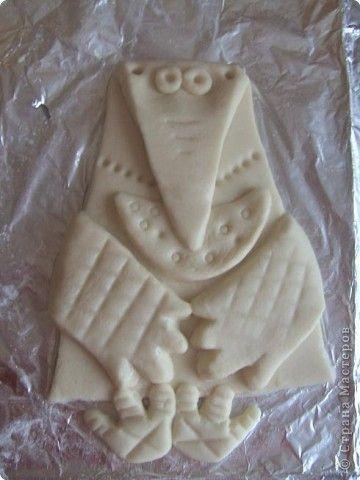 Мастер-класс Поделка изделие Лепка Ворона с сыром МК Тесто соленое фото 1