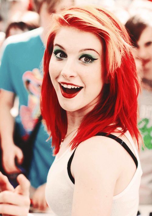 Hayley Williams. She has always been who she is and never changed for anyone <3